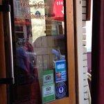 Chez Julien entrance with Trip Advisor sticker