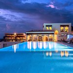 Sunset Terrace and pool / pool bar night view