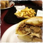Cheesesteak and fries!