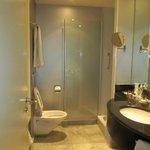 The bathroom/toilet was spacious