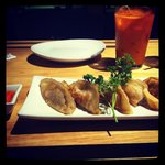 Dumplings & Thai Iced Tea