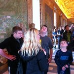 The Vatican Museums with our guide Angela Caiati