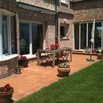 La terraza en el jardin