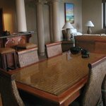 Dining room in our 2 bdrm Oceanview suite