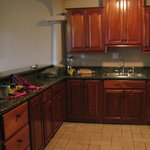 Great kitchen with beautiful Belizean wood cabinets