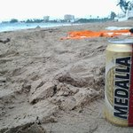 :) local beer on the beach