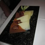 Manchego Cheese, Guava Paste and Candied Pecan Dessert
