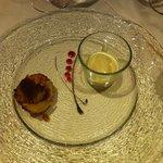 Apfeltart mit Calvados Eis