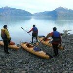 Excursión kayak en fiordo