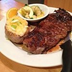 16 oz NY Strip Steak with vegetables and potato of your choice