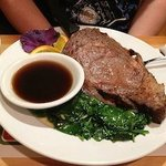 16 oz Ribeye Steak with vegetables and potato of your choice