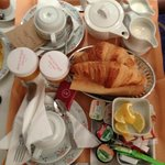 Breakfast in the room is an option, or you can eat in the breakfast room.