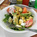 huge and delicious caribbean cobb salad w/organic chicken