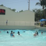 The wave pool has a countdown timer
