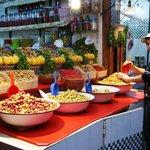 Venditore di olive