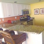 Luxury suite kitchen.