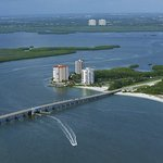 Lovers Key Resort and back bay waters