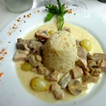Blanquette with rice