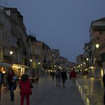 The night picture of the street Ca' Formenta is located on