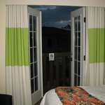 Opened balcony doors (with flash).