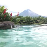 View of the Volcano from the bar side pool