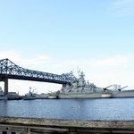 The Braga Bridge and USS Massachusetts