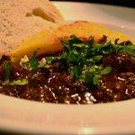 Beef Bourgignon with potato gratin