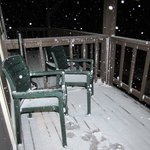 The first night brought flurries -- very exciting!