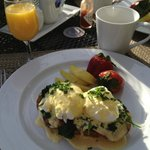 One of the delicious breakfasts.