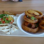 Veggie Wrap with Onion Rings