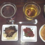 Meat tasting plate, great beers and food matches