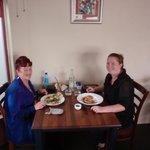 Barbara & Alicia having lunch