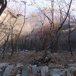 Steep rocky terrain