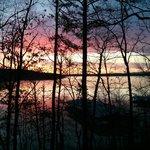 Sunrise over lake