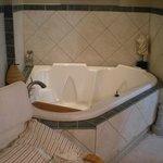 Whirlpool tub in room