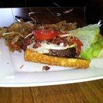 Bacon and Egg Elk Burger