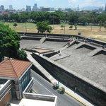 6th floor room looking down on Intramuros defenses