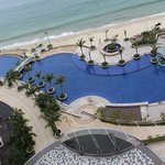 Pool and beach from 11th floor