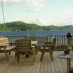 Our decking with it's magnificent view.
