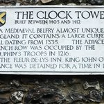 Succinct Plaque outlining history ofClock Tower