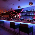 Bar with red lights