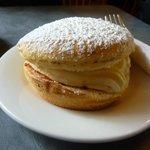 Jam and cream sponge