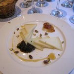 Very nice cheese platter for dessert