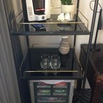 Coffee machine and minibar