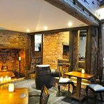 Cosy fireplace at The Stockwell