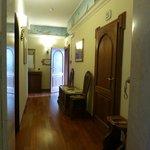 Hallway to Room 25 - open door