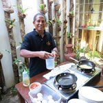 The wonderful man who made our fried eggs or omelettes each morning.  They were delicious!