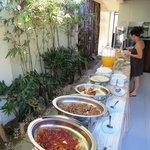 Part of the extensive buffet breakfast.