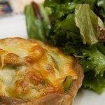leek and mushroom tartlet