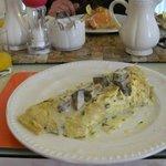 My main staple - Giant omelette (after a bowl of porridge!)